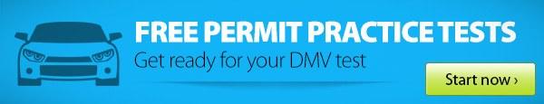 DMV Permit Practice Test Large